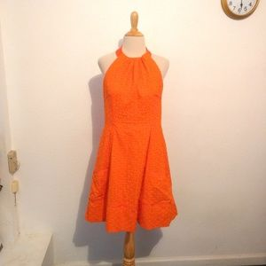 London Times Orange Halter Dress